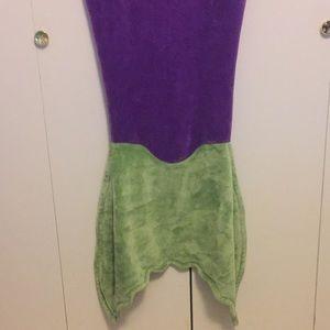 Accessories - Fleece mermaid blanket tail